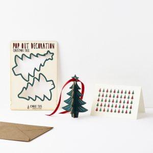 hanging Christmas tree card