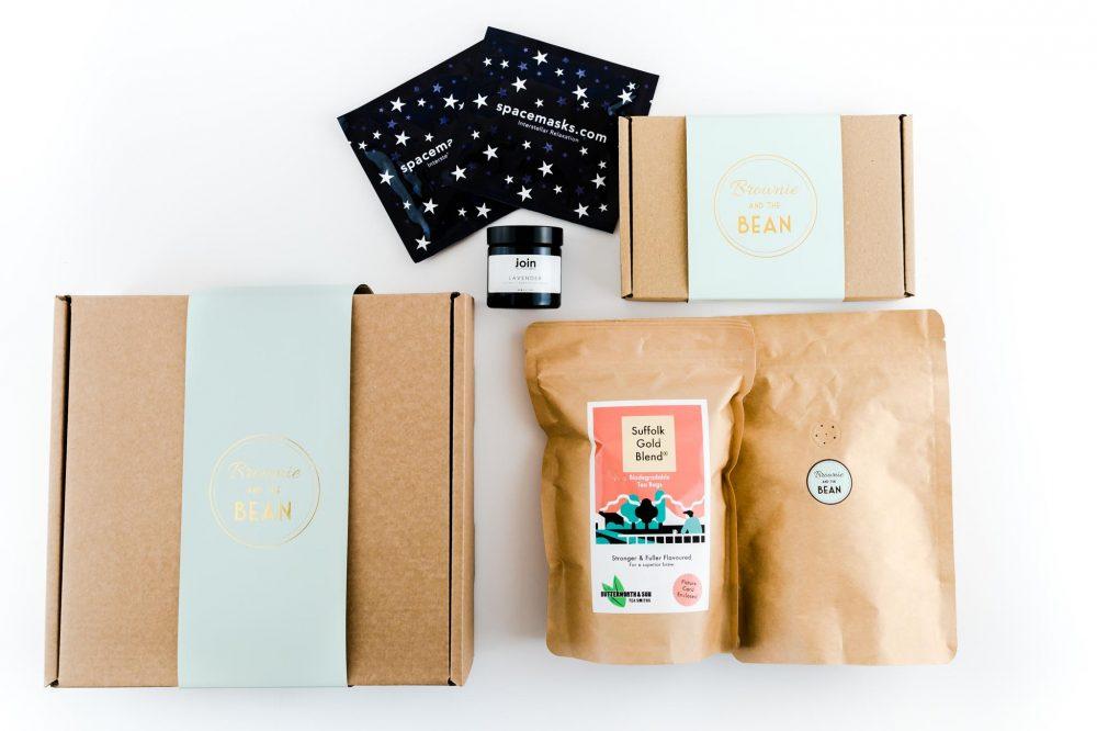 Spacemasks Candles Brownies Tea Coffee